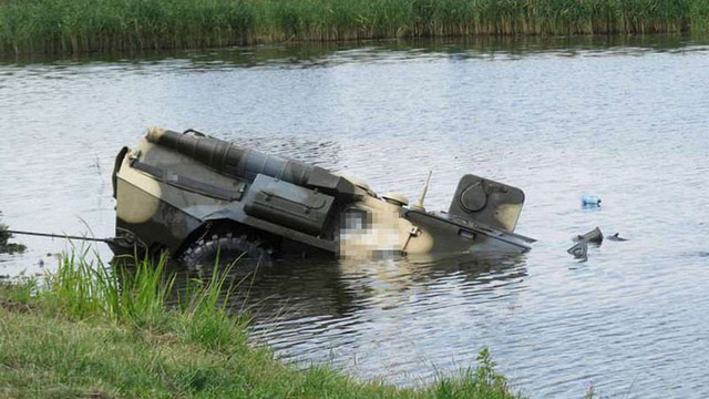 На Донеччині бойовики втопили свій БТР під час нічних навчань, - розвідка