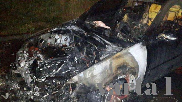 У Львові невідомі спалили автомобіль екс-міліціонера