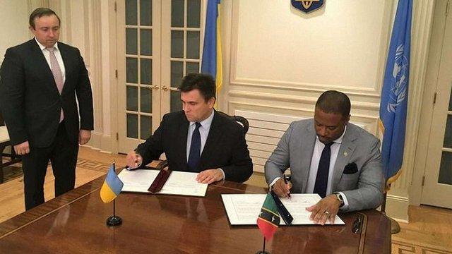 Україна підписала угоду про безвізовий режим з островами Сент-Кіттс і Невіс