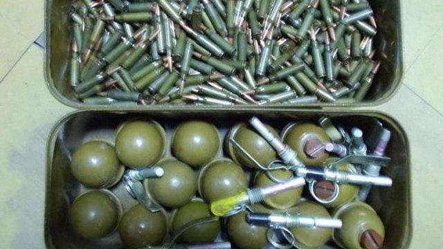 На Донеччині СБУ виявила схованку з гранатами і набоями калібру 5,45 мм