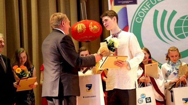 Український студент став одним з кращих знавців китайської мови в світі
