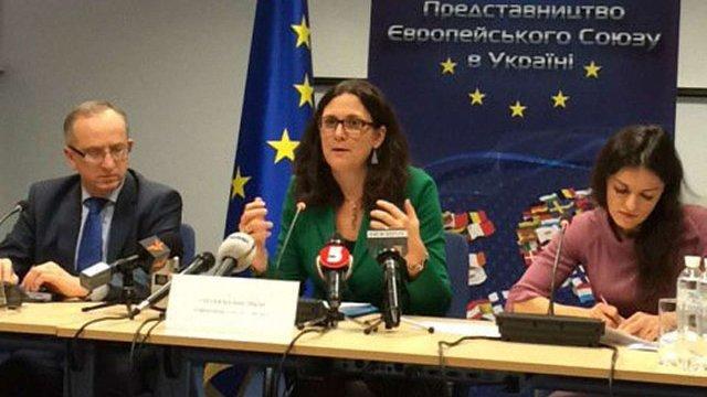 Єврокомісар з торгівлі оголосила про додаткові преференції для України