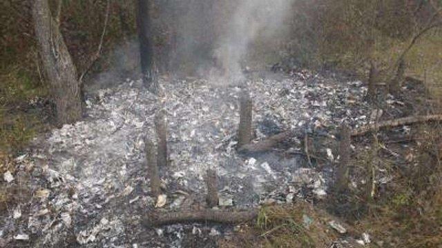 На кордоні з Польщею контрабандисти спалили партію незаконних сигарет