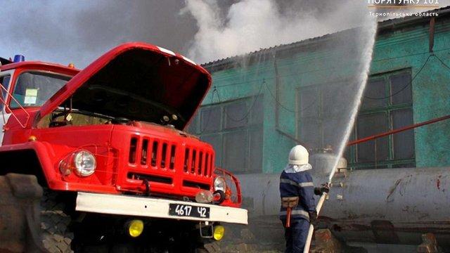На залізничному заводі в Тернополі сталася масштабна пожежа