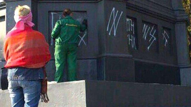 У Києві вандали вдруге спаплюжили пам'ятник Володимиру Великому