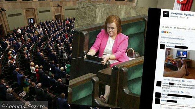 Польського журналіста позбавили акредитації Сейму за фото босоногої депутатки