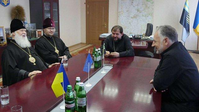 Патріарх Філарет відвідав бійців на лінії фронту