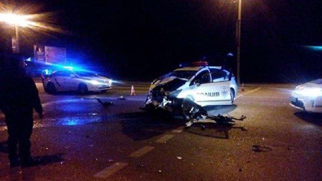Вночі машина патрульної поліції Львова потрапила в аварію