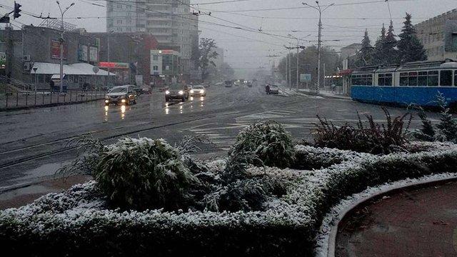 У Вінниці випав перший сніг