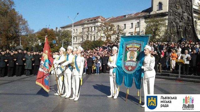 Першокурсники львівського ліцею ім. Героїв Крут склали урочисту клятву