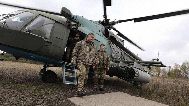 Петро Порошенко прилетів у зону АТО