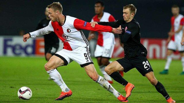 «Зоря» мінімально програла «Феєнорду» у матчі Ліги Європи