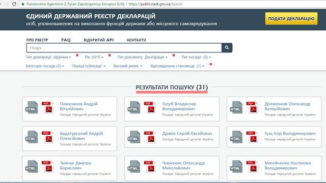 Депутати не поспішають подавати інформацію про своє майно в електронних деклараціях