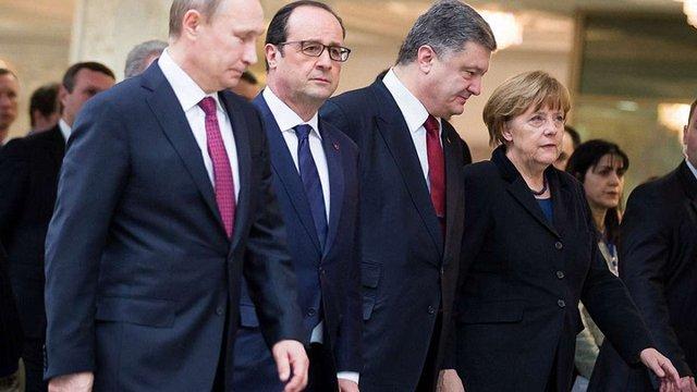 У АП назвали п'ять пунктів «дорожньої карти» щодо Донбасу, які Порошенко озвучив у Берліні