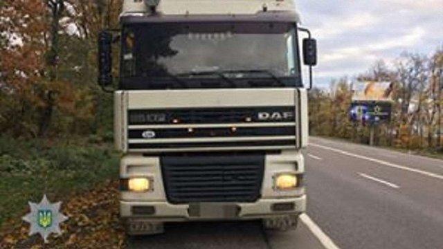 На трасі Київ – Чоп затримали нетверезого водія вантажівки