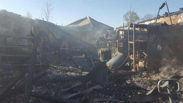 На Львівщині згорів цех з виробництва пластмасової продукції