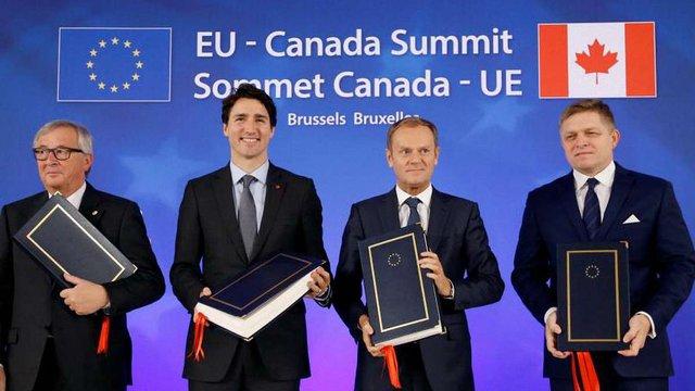 Канада і ЄС підписали угоду про зону вільної торгівлі