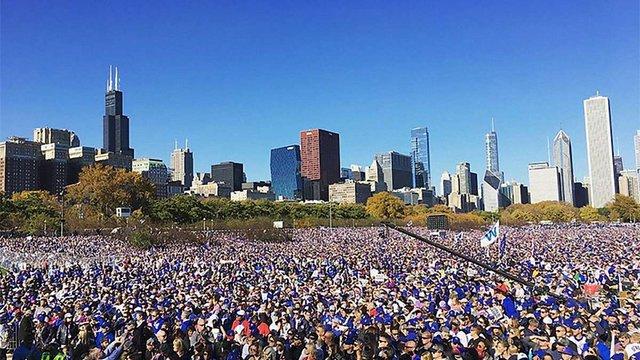 Близько 5 млн осіб відвідали чемпіонський парад бейсбольного клубу «Чикаго Кабс»