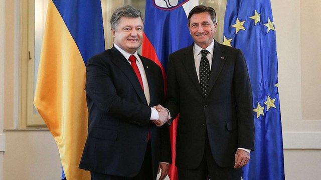 Петро Порошенко анонсував відновлення авіасполучення між Києвом і Любляною