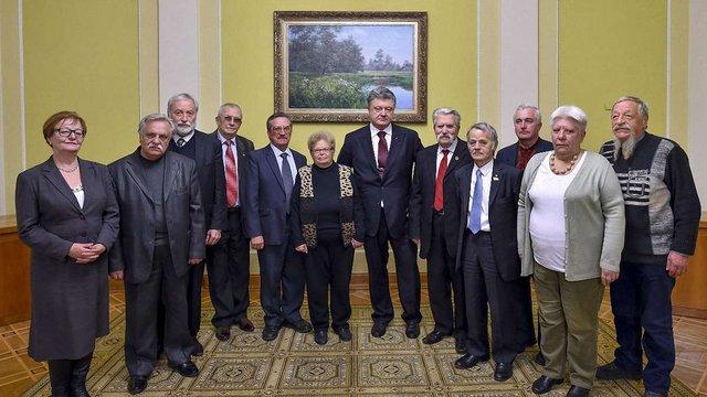 Президент зустрівся із засновниками та членами Української Гельсінської групи
