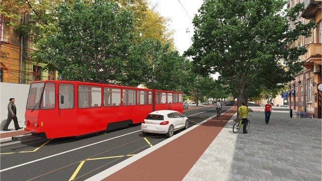 Оприлюднені 3D-візуалізації проектів реконструкції вулиці Бандери у Львові