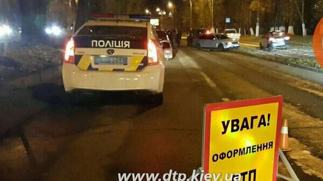 У Києві водій переїхав поліцейського, втікаючи від погоні