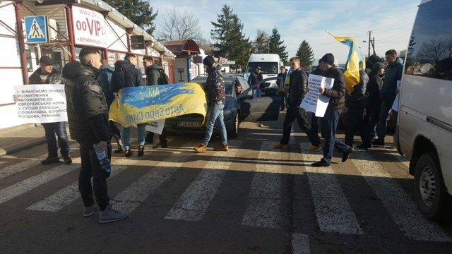 На кордоні з Польщею протестувальники заблокували два пункти пропуску