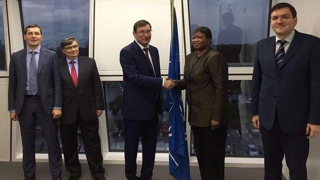 Юрій Луценко провів зустріч з прокурором Міжнародного кримінального суду в Гаазі