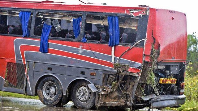 У Росії автобус з українцями потрапив у ДТП, постраждало 5 осіб