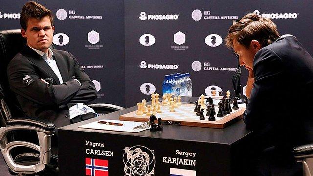 Росіянин і норвежець зіграли внічию останню партію матчу за звання чемпіона світу з шахів
