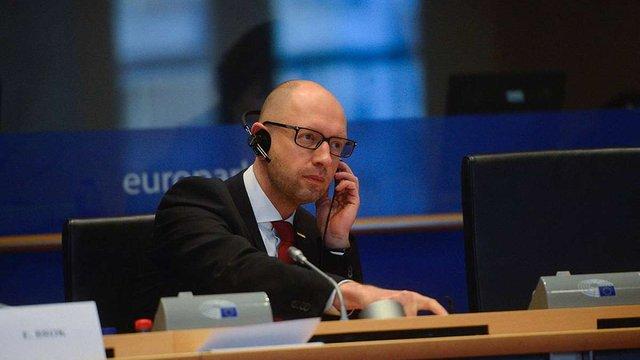 Яценюк: Україна не може бути заручником внутрішніх політичних і бюрократичних колізій у Брюсселі