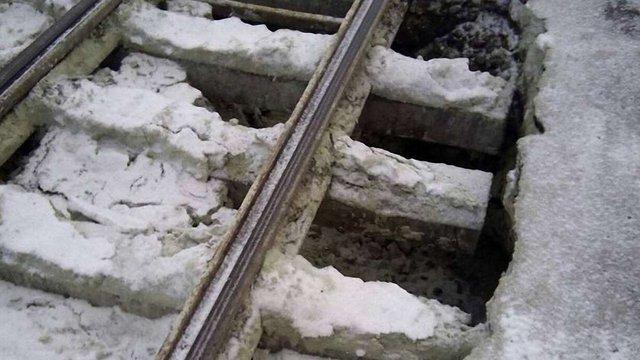 Через обвал дороги на Городоцькій львівські трамваї заблоковані у депо