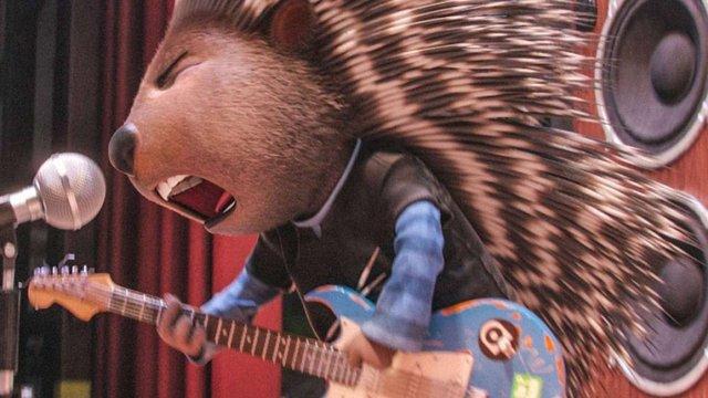 Фронтмен гурту O.Torvald у мультфільмі «Співай» озвучив дикобраза