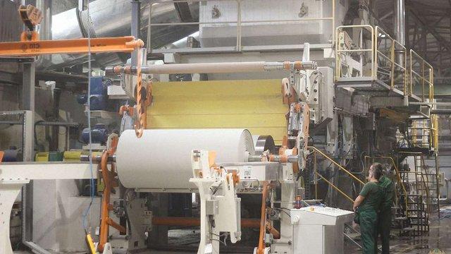 На Кохавинській паперовій фабриці запустили нову виробничу лінію