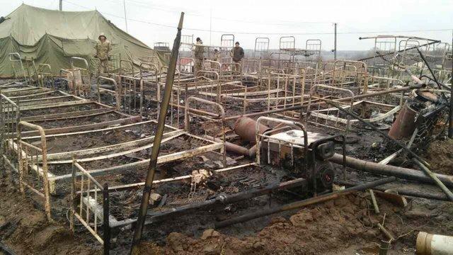 На житомирському полігоні ВДВ згоріло наметове містечко