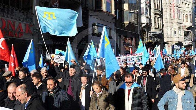 У Стамбулі пройшла акція протесту проти дій Росії у Криму