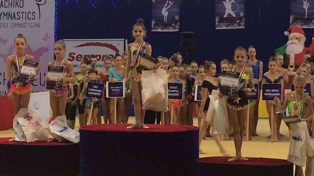 9-річна львів'янка перемогла на міжнародному турнірі із художньої гімнастики у Польщі