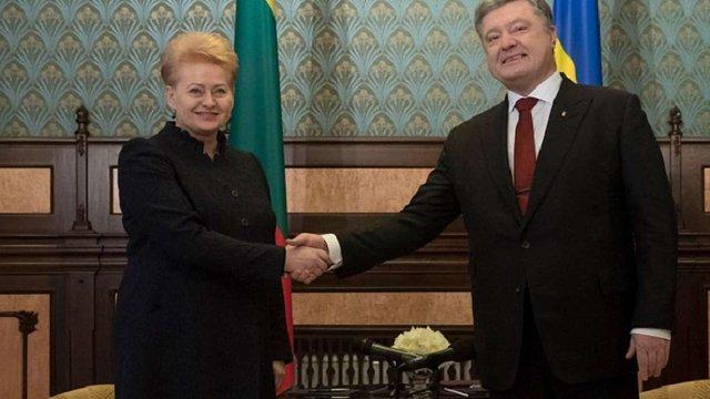 Президенти України і Литви підписали дорожню карту розвитку стратегічного партнерства