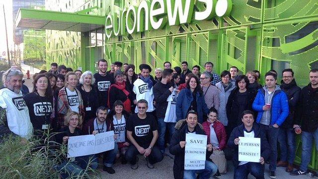 Журналісти телеканалу Euronews розпочали 24-годинний страйк