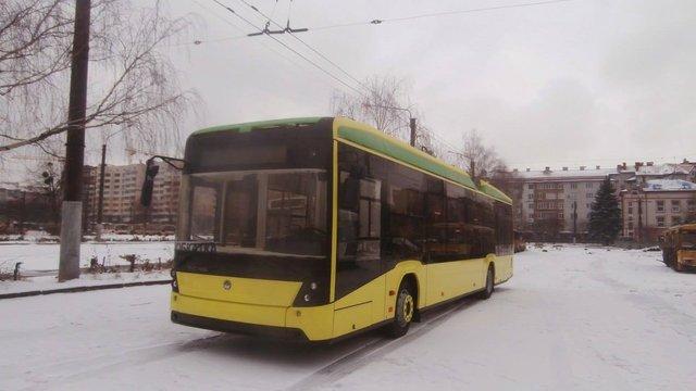 «Львівелектротранс» отримав новий тролейбус від «Електрону»