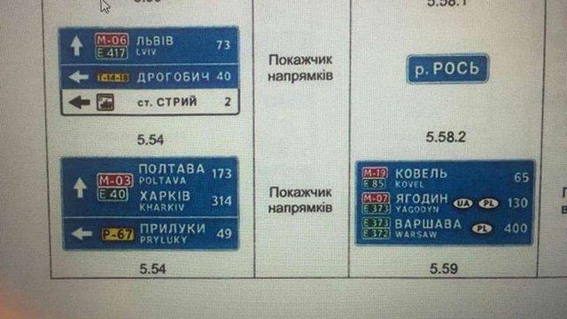«Укравтодор» представив нову форму дорожніх вказівних знаків