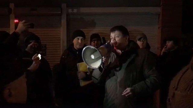 У центрі Києва невідомі потрощили МАФи