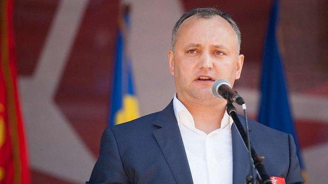 Новий президент Молдови Ігор Додон зняв зі своєї резиденції прапор ЄС