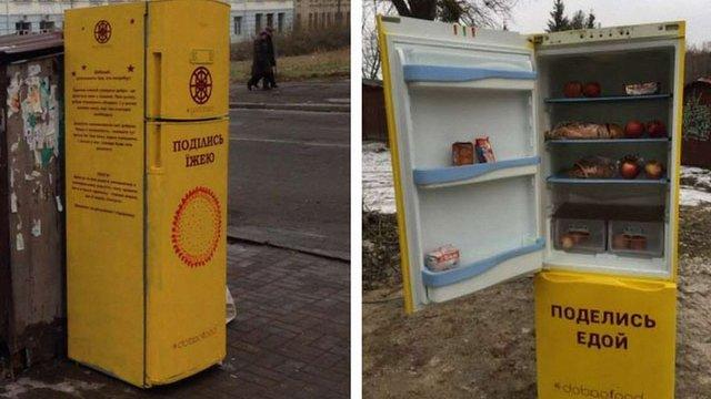 На вулицях Києва встановили «благодійні холодильники»