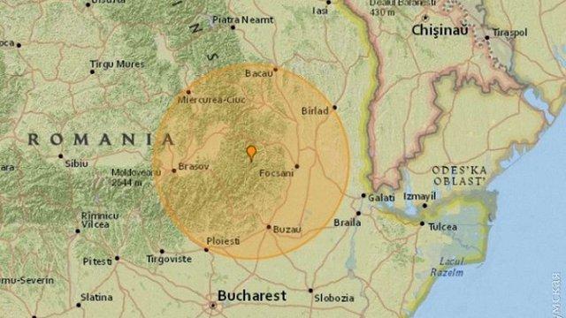 У Румунії стався землетрус, який відчули в Одесі та Києві