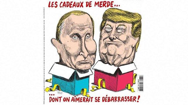 Святковий номер Charlie Hebdo вийшов з карикатурами Путіна і Трампа