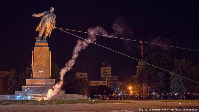 Харківщина стала лідером за кількістю демонтованих пам'ятників комуністичного режиму