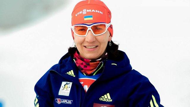 Біатлоністка Олена Підгрушна вперше в сезоні фінішувала у десятці найсильніших