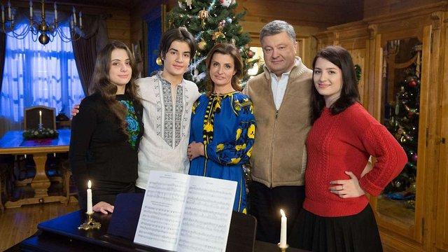 У різдвяному вітанні Петро Порошенко закликав українців молитись за воїнів
