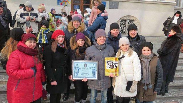 У Дрогобичі встановили рекорд України з наймасовішого виконання колядки